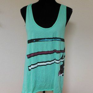 Diesel Black Gold Teal Racer Back Tank